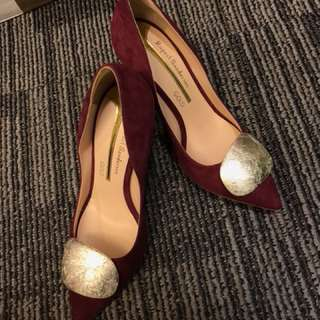 Rupert sanderson  heels with platinum seashell