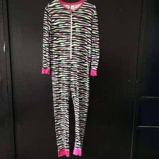 NEON Girl Onesie Sleepsuit Pajama