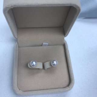 18K 日本珍珠耳環 8mm