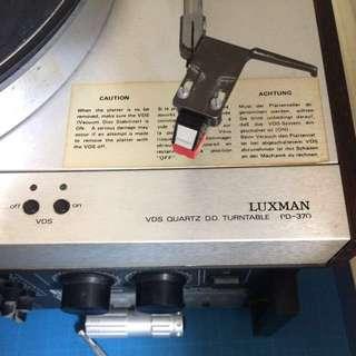 Luxman VDS Quartz DD Turnable PD-370 2 Speeds Vacuum Disc Stablizer