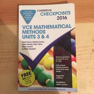 Checkpoints Maths Methods