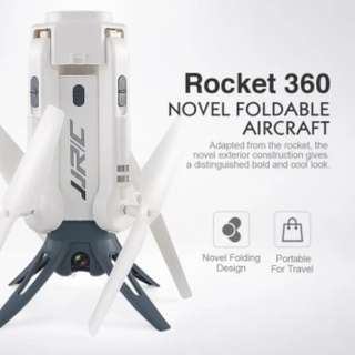 JJRC H51 Rocket Selfie Drone Quadcopter Camera 720P HD 360 Degree Panoramic Aeriel Photography (White)
