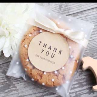 Restocked [Special Offer Price ] 90 Pcs Polka Dots Adhesive Bag Ideal For Party Gifts Cookies Present Functions Token Of Appreciation Etc