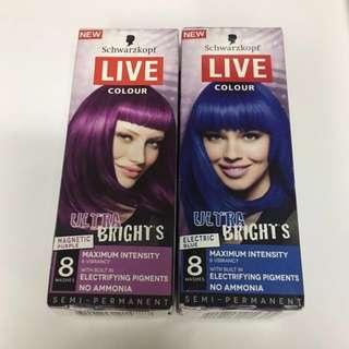 Schwarzkopf Hair Dye Live Ultra Brights