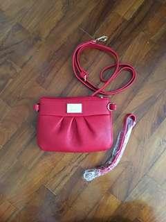 Crossbody sling bag cum wristlet