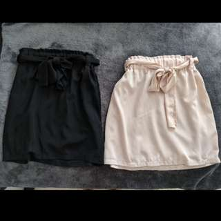 Black and nude skirt size 8