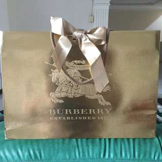 Burberry Paper Bag ORIGINAL *GOLD Edition with Ribbon