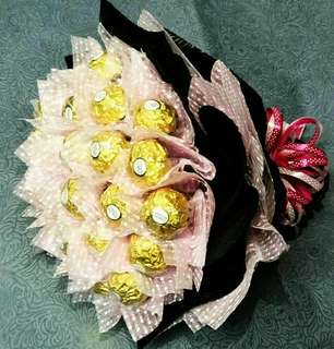 Promotion chocolate handmade bouquet(Free Delivery)