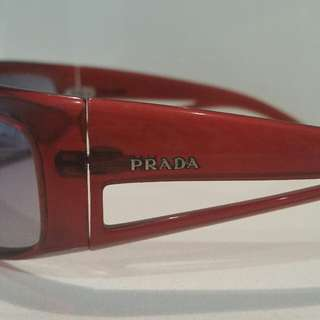 Authentic PRADA men's women's SUNGLASSES sunnies red MAROON