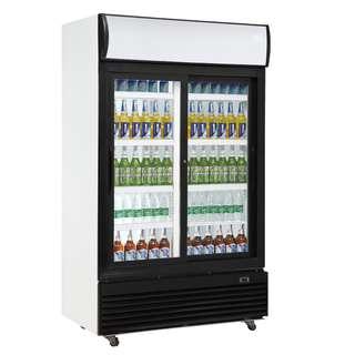 Sliding Glass Door Display Refrigerator