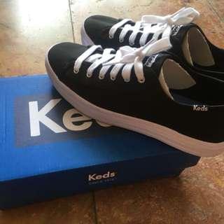 Ori sepatu KEDS triple kick canvas black LIKE NEW