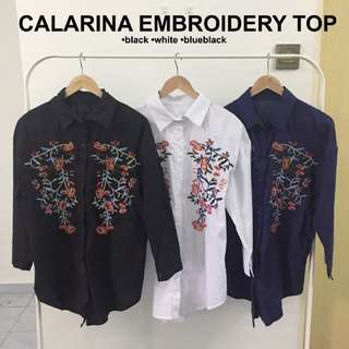 [3 FOR $60] Calarina embroidery top