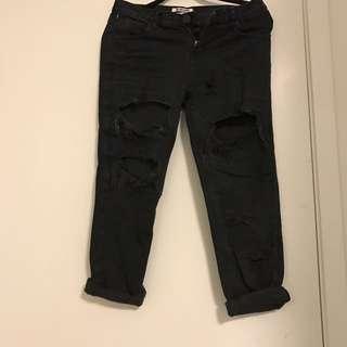 Aritzia OneTeaspoon OffBlack Ripped Bf Jeans