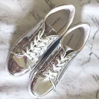 Tony Bianco Silver Metallic sneakers