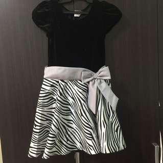 Black Glitter and Zebra Dress