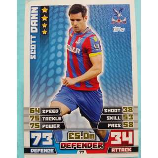 Match Attax 2014/15 BPL Scott Dann Crystal Palace