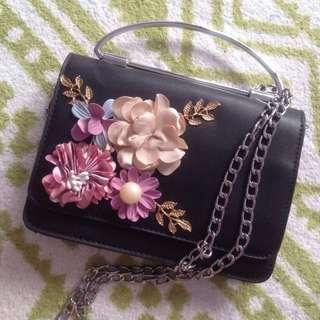 Flowery Long Chain Bag