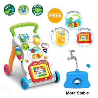 4 in 1 Children Music Walker Baby Learn Walk Stand Trolley #midjan55