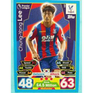 Match Attax 2017/18 BPL Lee Chung-Yong Crystal Palace