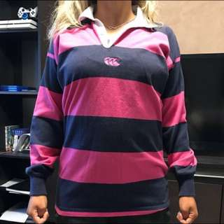 CCC Ladies Navy/Pink Striped Jumper