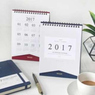 🇰🇷韓國正版 (Y16069) indigo 2017商務臺歷桌面型計劃本 official desk calendar(