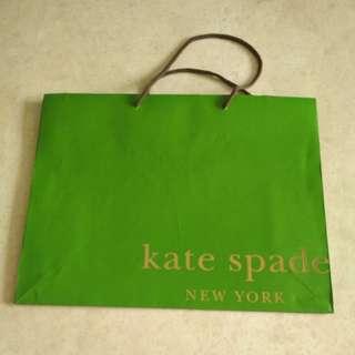 Kate Spade Green Paper Bag