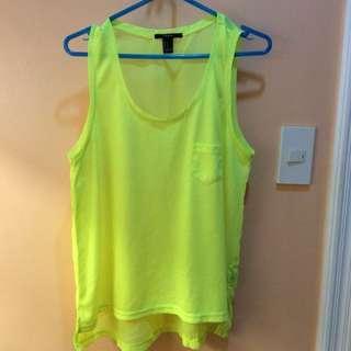 Forever 21 neon sleeveless