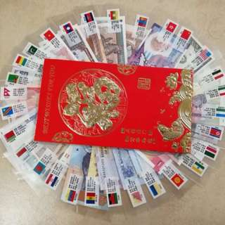 Foreign currency AngBao 红包 form 29 country / 53pieces selling $30