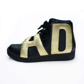 Adidas Originals by Jeremy Scott Letter Black/Gold波鞋