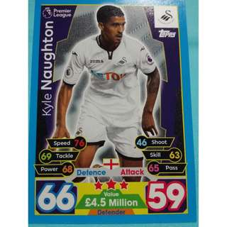 Match Attax 2017/18 BPL Kyle Naughton Swansea City