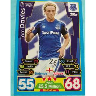 Match Attax 2017/18 BPL Tom Davies Everton