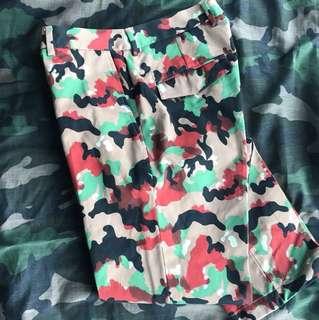 valentino runway camouflage pants