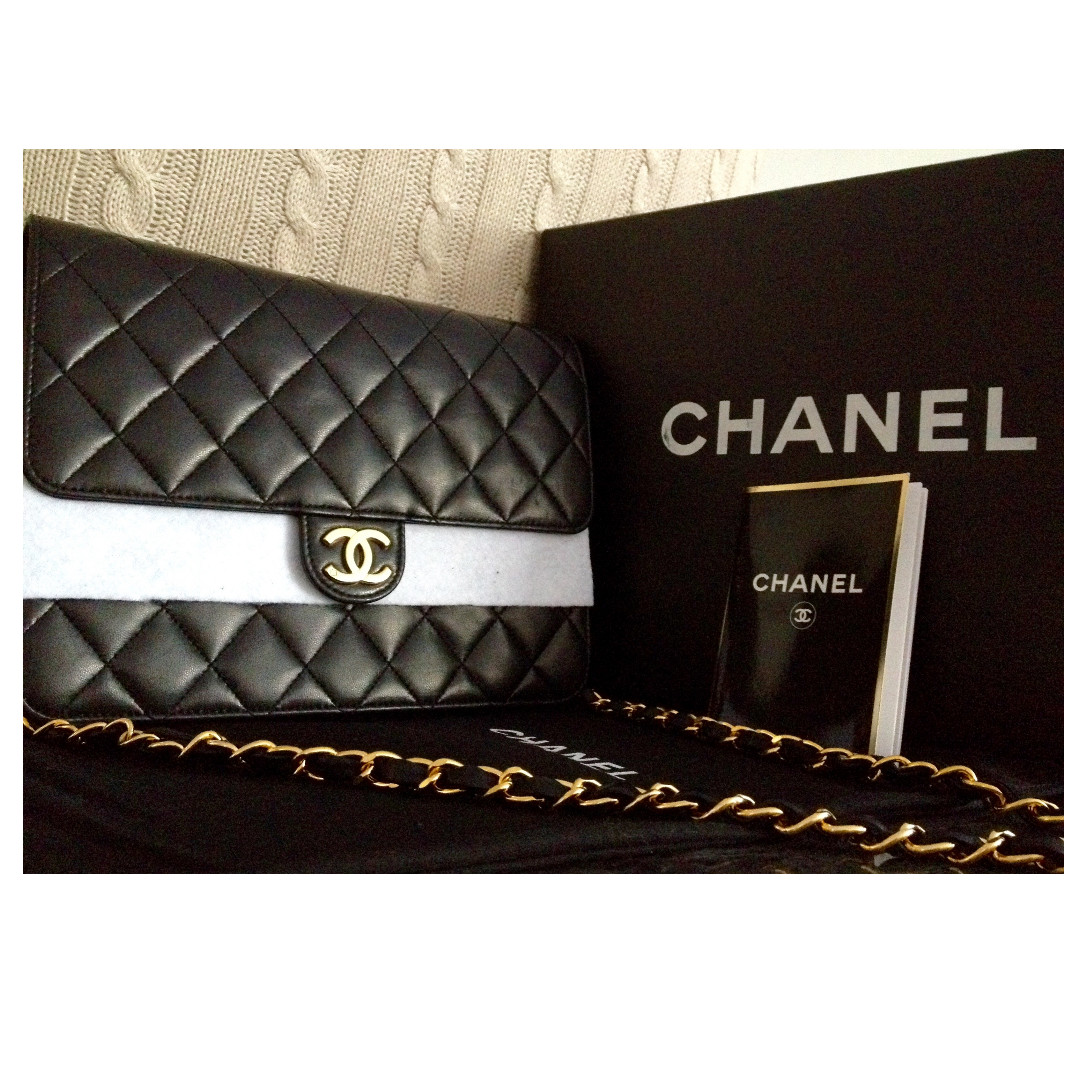 f1e935f8a4b053 Chanel Clutch 291488 Collector Square Chanel Black Quilted Patent Leather  Brilliant Woc Clutch Bag Handbags Ref 46062 100 Clic Chanel Black Quilted  Lambskin ...
