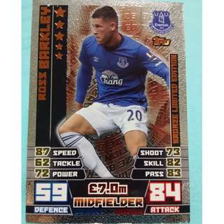 Match Attax 2014/15 BPL Ross Barkley BL Edition Everton