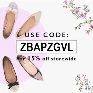 ZALORA 15% off Coupon Voucher code