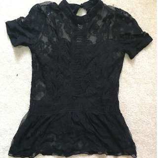 Black Lace Top (Slip included)