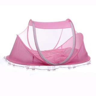 Infant zipper canopy mosquito net tent