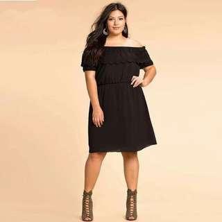 PREORDER Off Shoulder Plus Size Dress