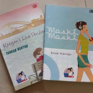 Novel teenlit take all 35K , satuan @15