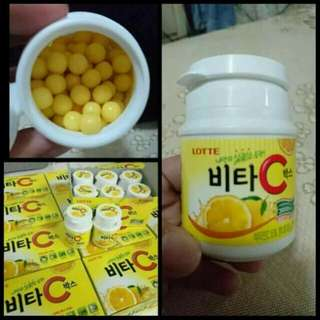 韓國樂天維他命C檸檬糖