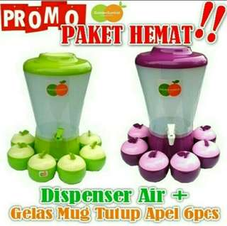 DISPENSER GOLDEN SUNKIST + MUG APEL
