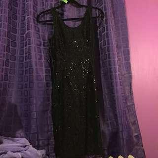 Black sequences dress