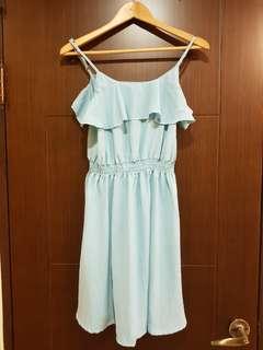 🚚 細肩藍洋裝