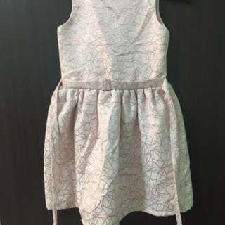 Printed Formal Semi Balloon Dress