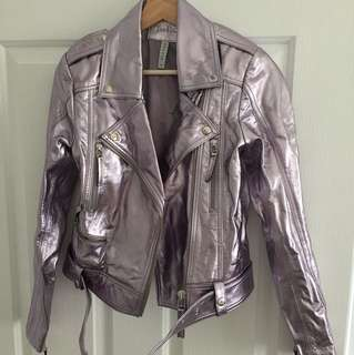 Metallic leather jacket Steele XS