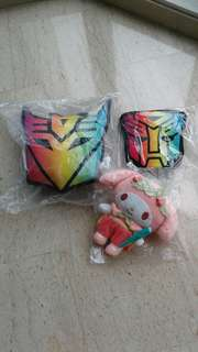 Travel bag & blanket & a soft toy (BN) - 3 items