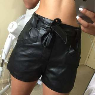 Ally Leather Baggage Shorts