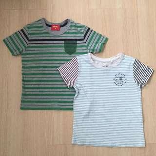 Green Stripey Tshirt Set