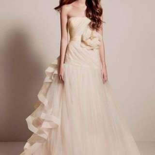 White by vera wang VW351199 blush gown + Garza Floral Sash 婚紗晚裝
