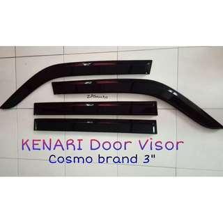 KENARI Smoke Black Transparent DOOR VISOR SIZE Small Flat (2.7″-3″)